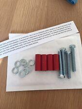 35mm Gloss Red Bonnet Raisers/Lifters Vauxhall Corsa C