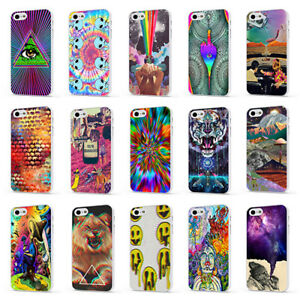 PSYCHEDELIC HIPPY ALTERTERNATIVE WHITE PHONE CASE COVER for iPHONE 4 5 6 7 8 X