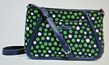 TRIMMED TRAPEZE CROSSBODY Vera Bradley Lucky Dots Navy 14597-204 New wth Tag $78