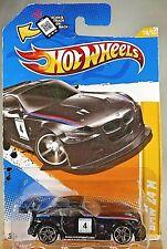 2012 Hot Wheels #18 New Models 18/50 Bmw Z4 M Black Variation w/Pr5 Spoke Wheels