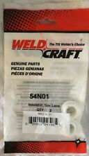 WeldCraft TIG Welding Torch Gas Lens Gasket Insulator 54N01 for 17/18/26- 2Pk