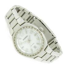 Fossil Kristall Damen Armband Uhr Edelstahl Perlmutt Datum AM-4141 10ATM N200