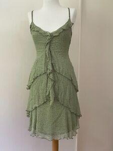 Alana Hill size 10 silk green dress