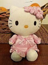 Hello kitty peluche con vestitino in raso-20 cm