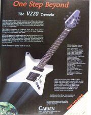 retro magazine advert 1986 CARVIN V220