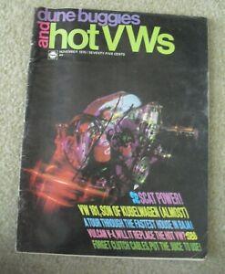 Vintage November 1970 Dune Buggies and Hot VWs Car Automotive Magazine