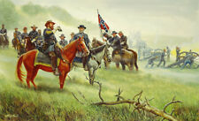 "Mort Kunstler Lee's "" Old War Horse "" Limited Edition Civil War Print S/N"