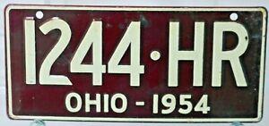 WHEATIES MINI LICENSE OHIO 1954