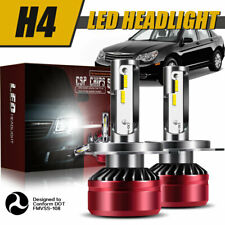H4 9003 LED Headlight Bulbs 60W 12000LM Kit High&Low Beam Upgrade 6000K DWL