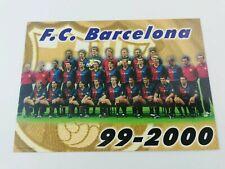 POSTAL FC BARCELONA PLANTILLA TEAM 1999 2000 99-00 SEASON FOOTBALL POSTCARD