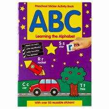 Preschool Learning Sticker Books - Children Educational Book for Kids aged 3+