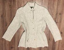 Eileen Fisher Gray Boiled Wool Cardigan sz XS - S