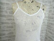 BNWoT ladies PRIMARK cami top boho sheer lacy cobweb poly viscose size 12 HSQ178