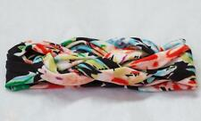 Baby Girl Toddler Celtic Knot Twist Cotton Floral Head Band BLACK MULTI