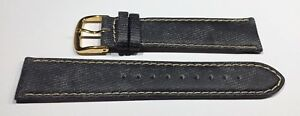Weiches Armband aus Kalbsleder mit Jeansoberfläche,20mm,Fa.Graf,Made in Germany