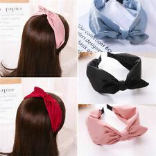 2020 Lady Headband Hairband Bow Knot Cross Tie Wide Headwear Hair Band Hoop