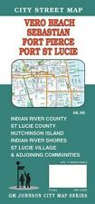 City Street Map of Vero Beach, Sebastian, Port St Lucie, Florida, by GMJ Maps