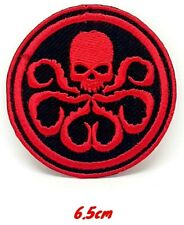 Hydra Red Skull Marvel Avengers Embroidered Iron or Sew on Patch #898