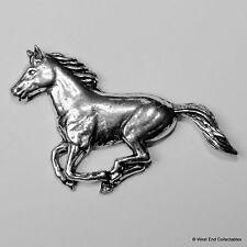Au galop Cheval étain Broche - Britannique Faites-Mustang Poney Riding Cadeau
