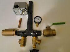 SCH 80 PVC 1 x 11 PRESSURE Tank Tee Install KIT Water Well + BALL & CHECK  VALVE