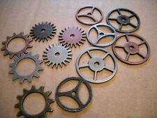 12 Steampunk Gears Lot Clock Gears Watch Gears Mixed Charm Lot Gear Connectors