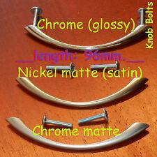 Kitchen Door Cupboard Cabinet Drawer Handles Bow 96mm Chrome/Nickel/matte/satin