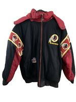 Mens Large Pro Player Vintage Winter Jacket Reversible Washington Redskins NFL