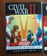 "2016 MARVEL ANNUAL CIVIL WAR II ""CAPTAIN MARVEL #8 "" Upper Deck #CW18"