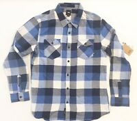 NEW Vans Off The Wall buffalo Plaid Check Flannel Shirt Button Front Men's XL