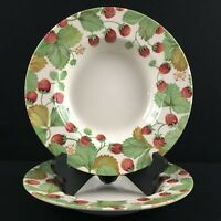 Set of 2 Soup Bowls Royal Stafford Wildberry Strawberry Earthenware England