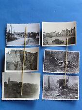 Foto 6x Westfront Frankreich 1940 Deutsche Soldaten etc in Beaumont