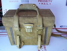 Ramrod Vintage Leather suede Camera Case tote: For nikon, pentax, leica, zeiss