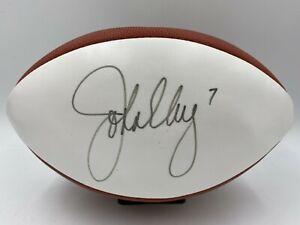 John Elway Signed Official Size The Duke Wilson White Panel Football PSA/DNA COA