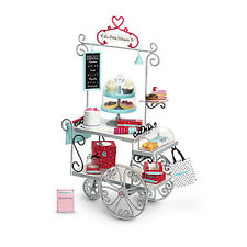 """American Girl LE GRACES PASTRY CART for 18"""" Dolls Food Cake Paris NEW"""
