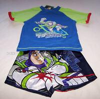Disney Toy Story Buzz Lightyear Boys Blue Cotton Satin Pyjama Set Size 6 New