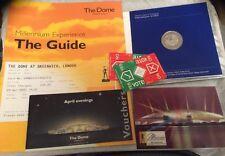 Millenium Dome Ephemera, £5 Millenium Minted Coin,Guide Book,Ticket,Post Card784