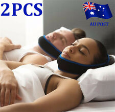 2x STOP SNORING CHIN STRAP Apnoea Stopper Solution - Anti Snore Sleep Apnea Belt