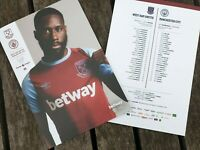 West Ham v Manchester City PREMIER LEAGUE Programme 24/10/20!IMMEDIATE DISPATCH!