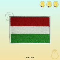 Hungary National Flag Embroidered Iron On Sew On Patch Badge For Clothes Etc
