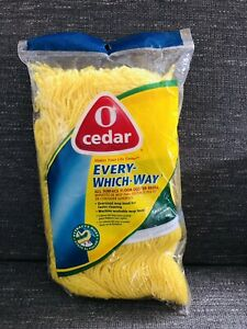 O Cedar Cleaning Every Which Way Cotton All Surface Dust Mop Refill Washable New