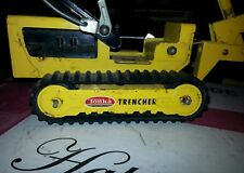 Vintage Tonka Yellow Silver Black Trencher Fully Working Pressed Steel Toy