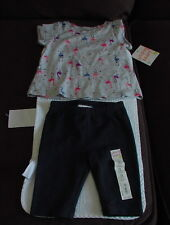 Jumping Beans 12m girls Flamingo shirt with pants