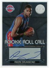 2012-13 Andre Drummond Auto Panini Totally Certified  Rookie Roll Call #8