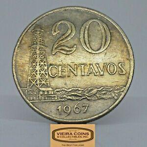 1967 Brazil 20 Centavos, Free Shipping -  #C21555NQ