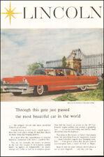 1950's Vintage ad for Lincoln`four door sedan red retro car Photo   (112017)