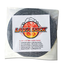 "Grey Lavalock® Gasket High Temp BBQ Smoker Grill Self Stick 1/2"" x 1/4"" x 15'"