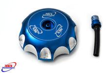 Yamaha YFM 660 R Raptor 2001-2005 Billet Aluminio Tapón de combustible de gasolina azul