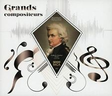 Madagascar Composer Mozart Music Souvenir Sheet Mint NH