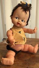 Vintage Pebbles Rosebud Doll The Flintstones Hannah Barbera 1960s