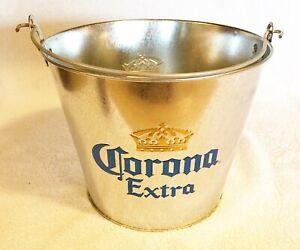 Corona Extra Metal Beer Ice Bucket w/ Built in Bottle Opener
